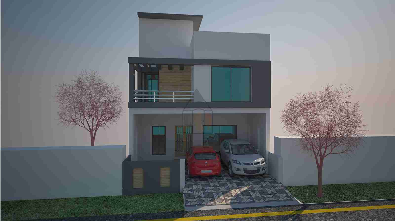 5 marla pakistani home design with basement front elevation 5