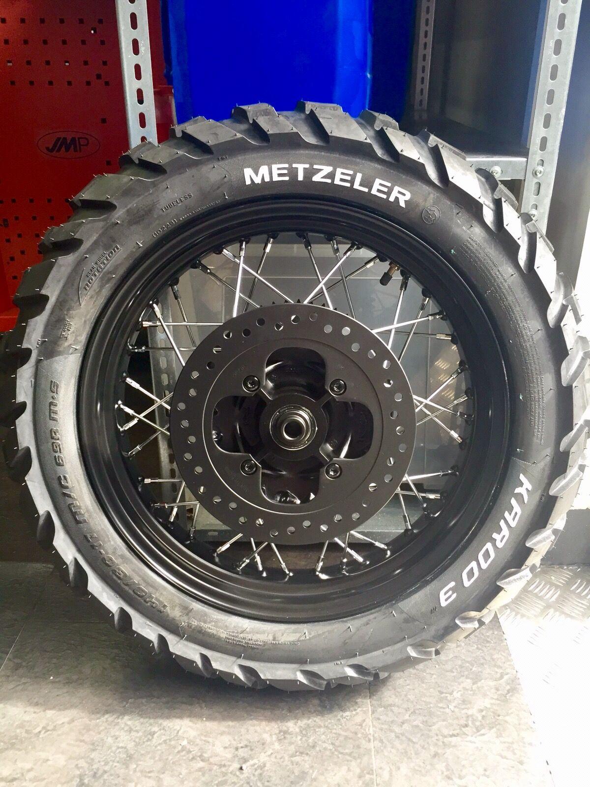 Black Brake Disc Plus Metzeler Karoo3 For Bonneville T100 Triumph Motorcycles Bonneville T100 Bonneville