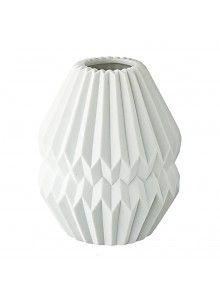Wunderbar Créton Maison Origami Vase Groß Weiß (4)
