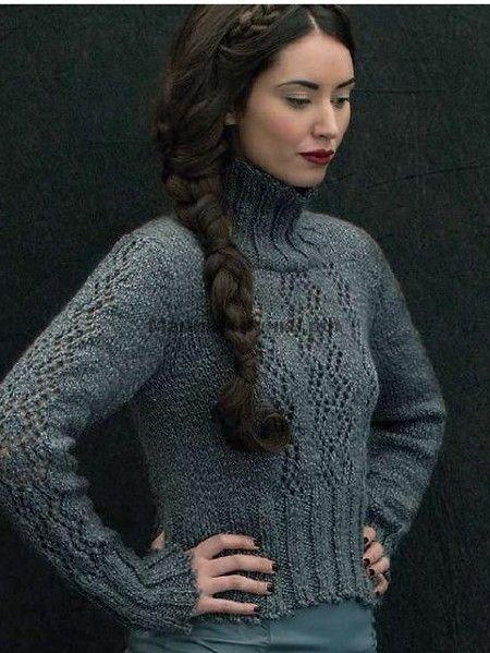 Вязаный спицами свитер Falaise (Фалез)