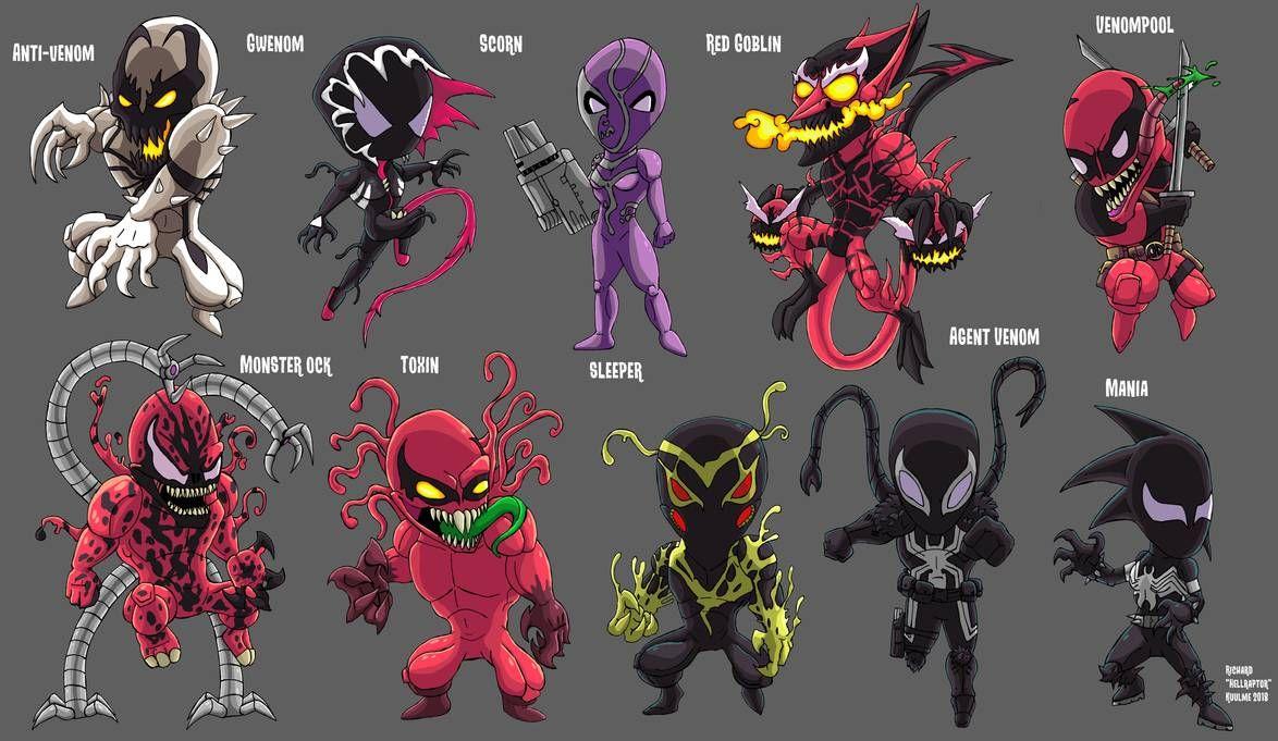 Chibi Symbiotes second batch by HellraptorStudios ...