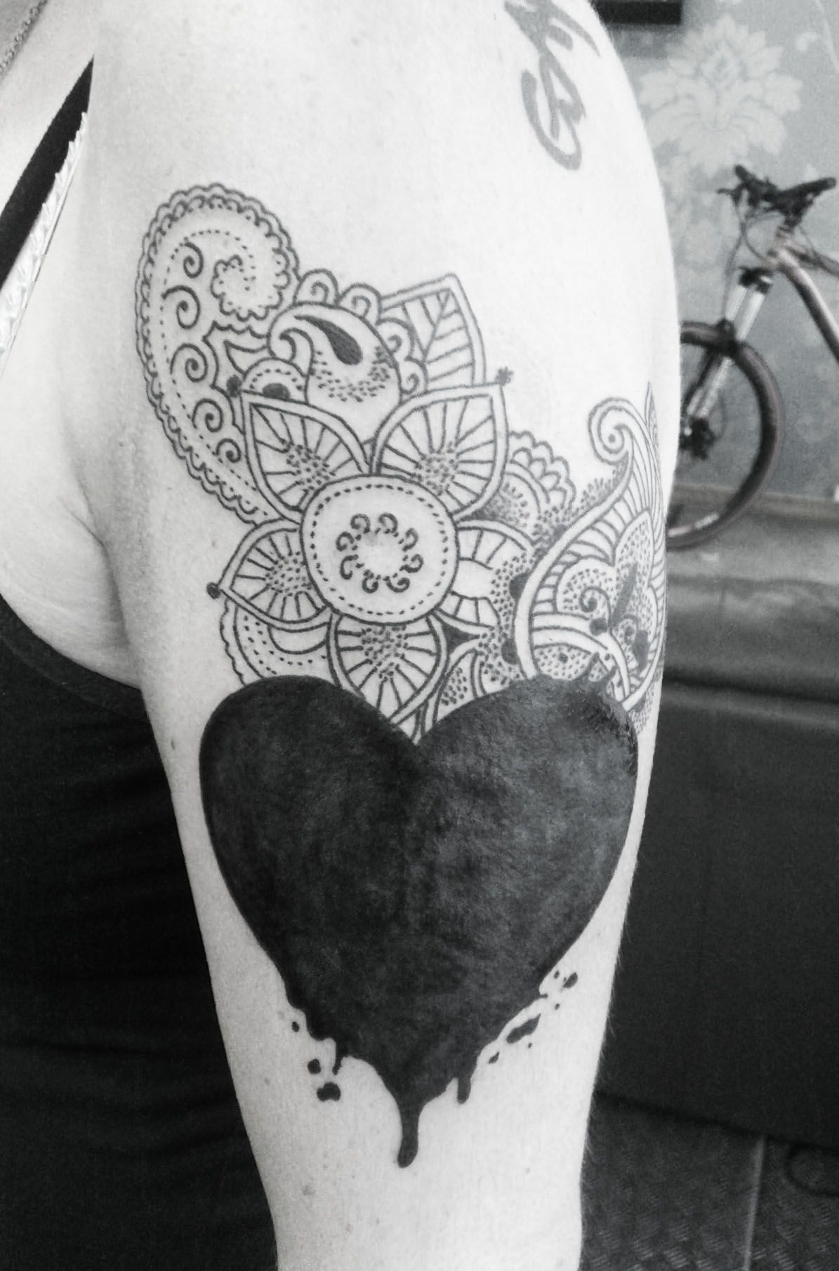 Black Heart Cover Up Google Search Tattoos Black Tattoo Cover