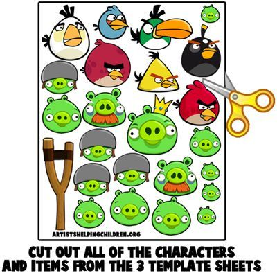 How to Make your own Angry Birds Magnet Set « Animal Crafts Ideas - copy coloring pages angry birds stella