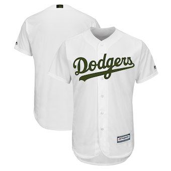 9676abe7d Los Angeles Dodgers Majestic 2018 Memorial Day Cool Base Team Jersey - White