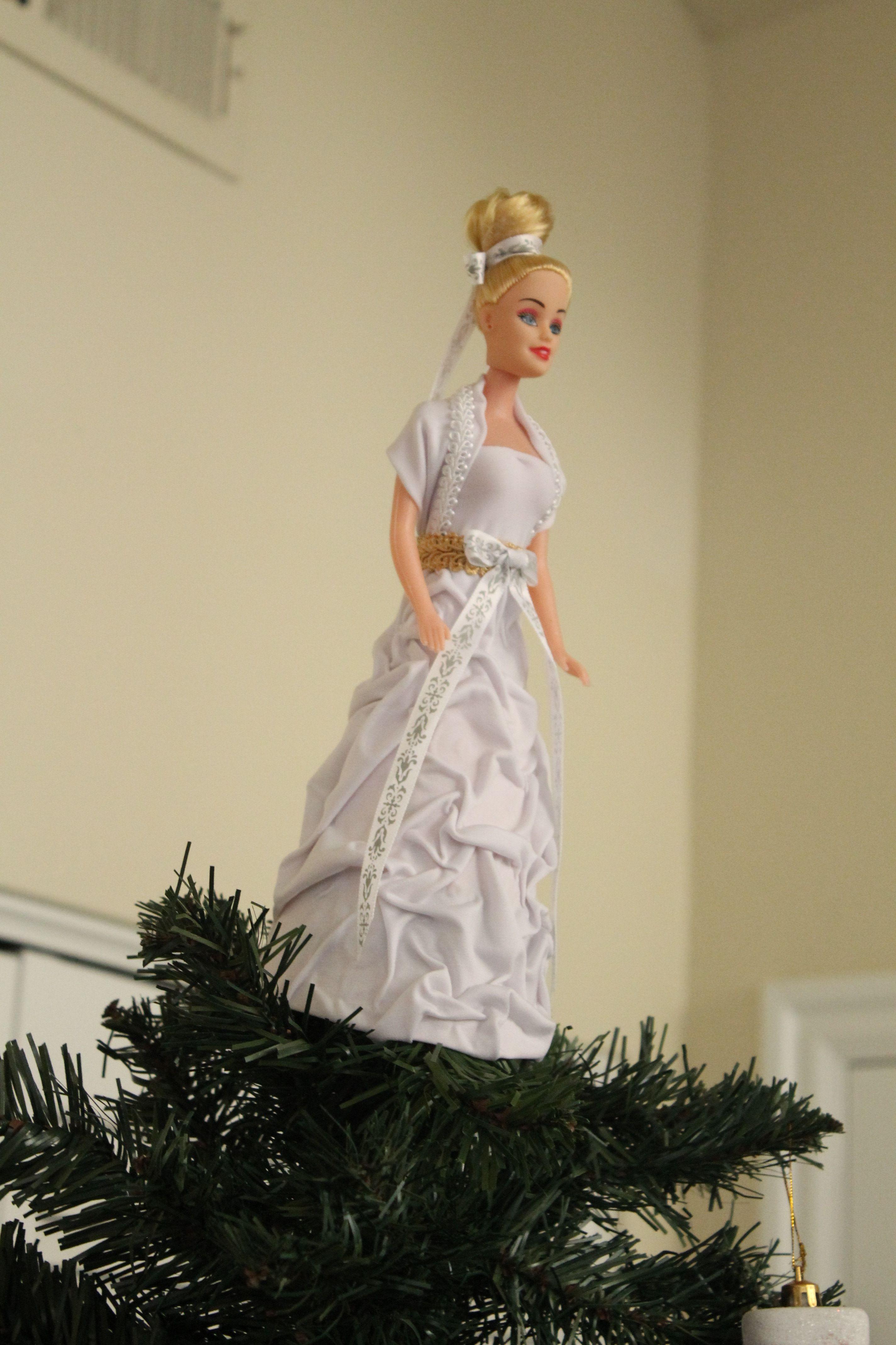 Fiber optic wedding dress  diy angel topper  Christmas  Pinterest  Diy angels and Craft