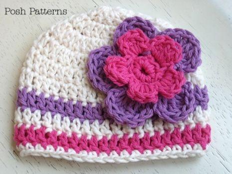 Crochet PATTERN - Crochet Pom Pom Beanie Pattern - Hand Spun Yarn ...