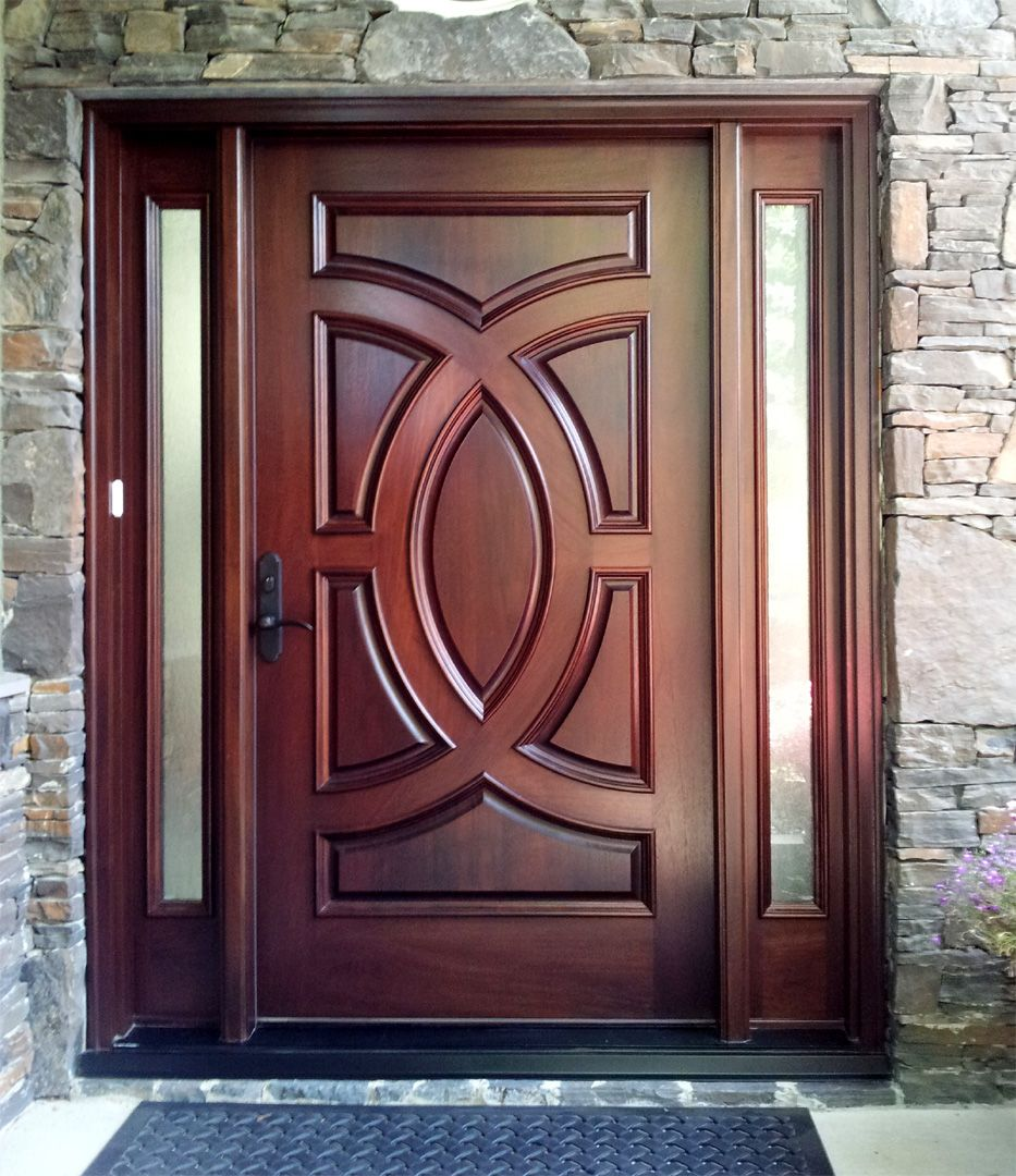 Wood Door TEMPERED GLASS OVE 1 M5 APPLIED MOLDING PANEL ON A ...