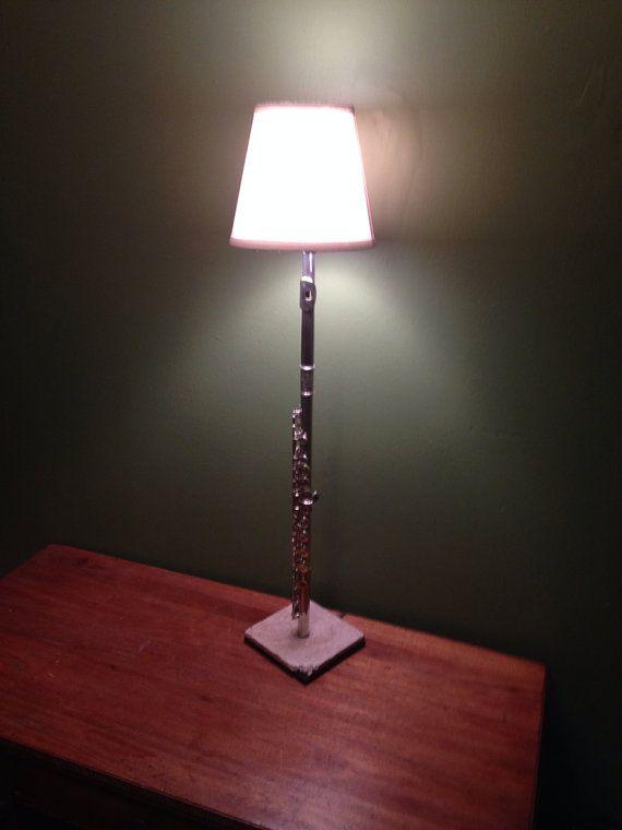 Flute lamp desk lamp instrument lamp instrument desk lamp on etsy 125 00