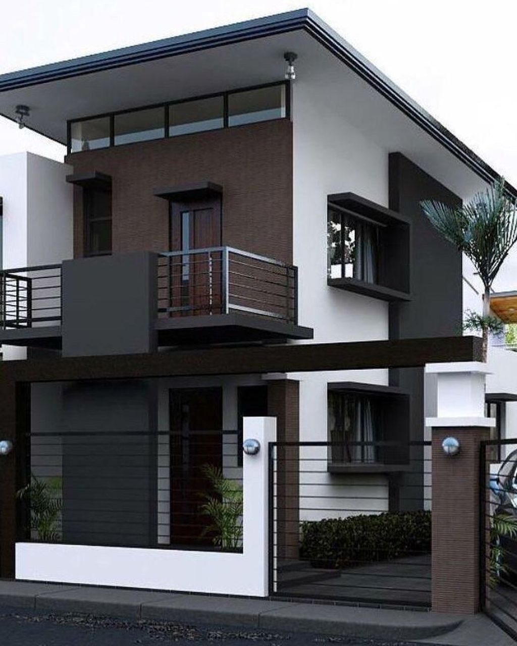 37 Stunning Contemporary House Exterior Design Ideas You Should Copy In 2020 Duplex House Design Bungalow House Design Modern Small House Design