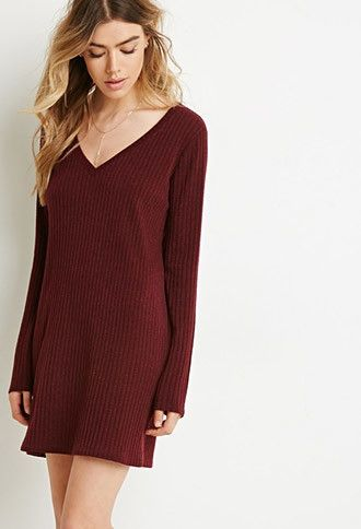 aef213fce4d Ribbed Sweater Dress