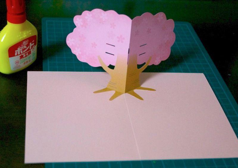 【作り方と型紙】桜のポップアップカード   ポップアップカード(pop up card) by Kagisippo