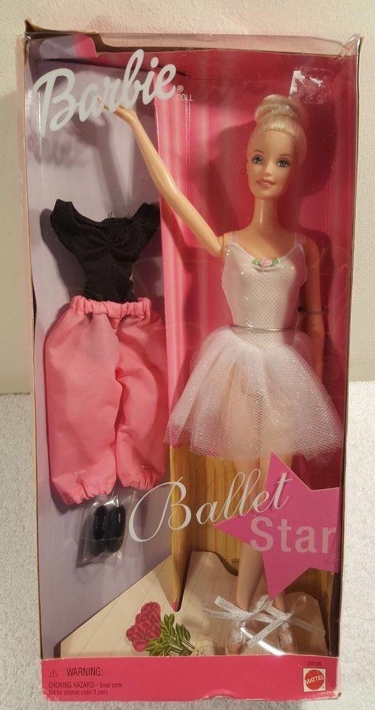 NEW Barbie Doll BALLET STAR 2000 Mattel #29195 Poseable Legs