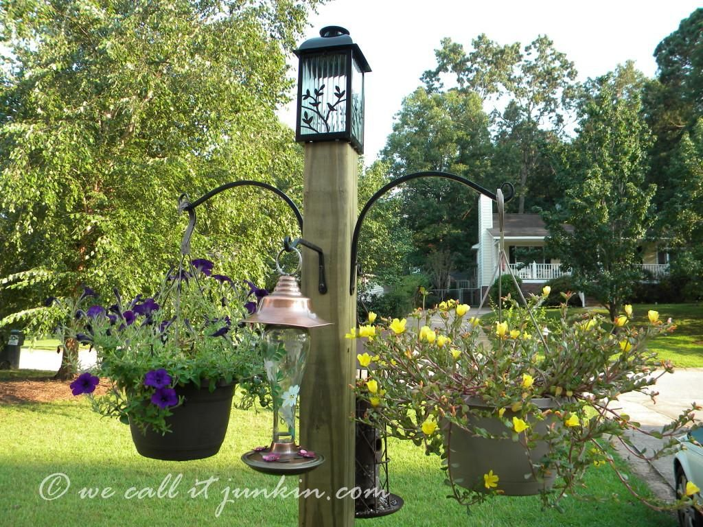 instructions with photos for building a freestanding post in your