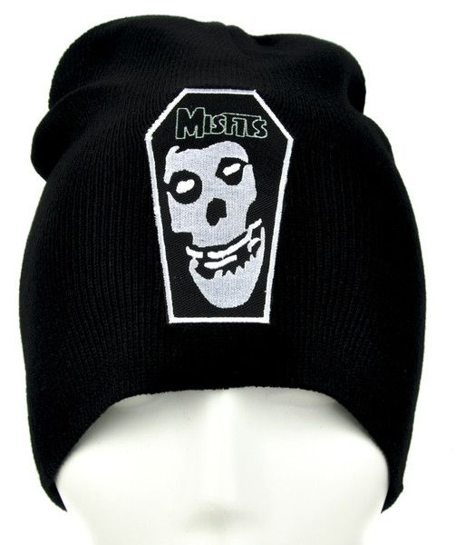 f3bed51983c Misfits Skull Coffin Beanie Psychobilly Clothing Knit Cap