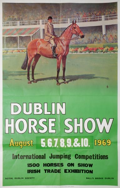 1969 Event TP: Dublin Horse Show | Arm-Chair Travel Posters