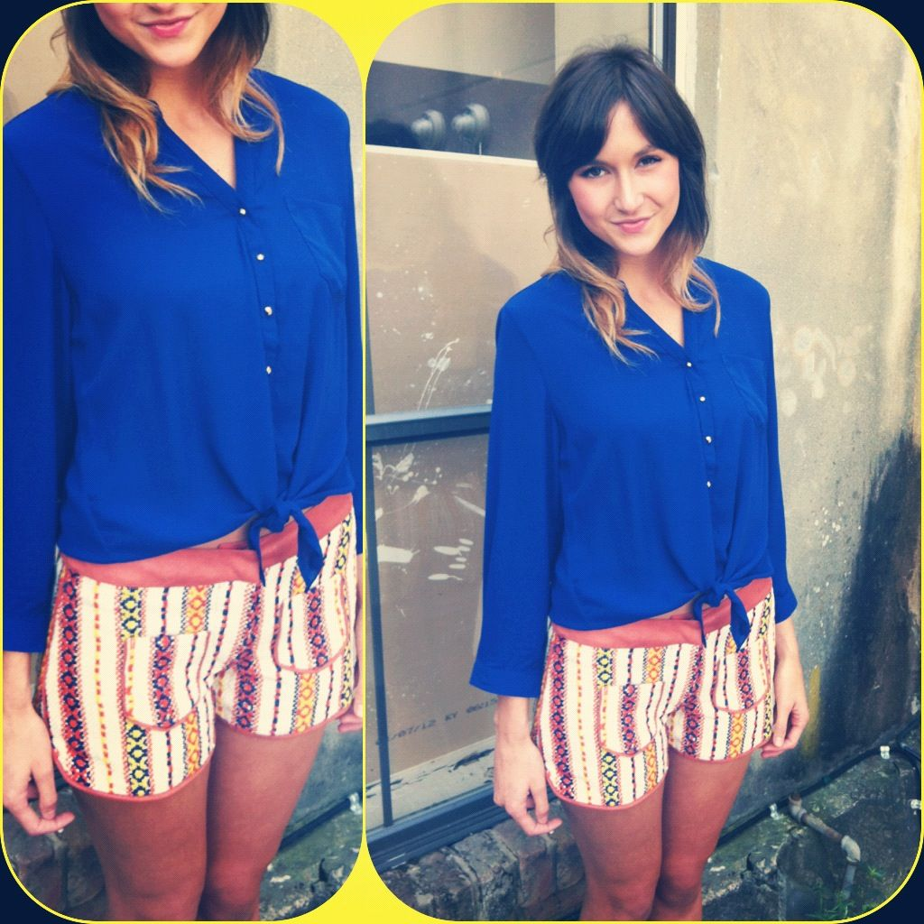 This studded button down goes perfect with these Judith March shorts!   Check us out on Facebook, Twitter, and Instagram!!