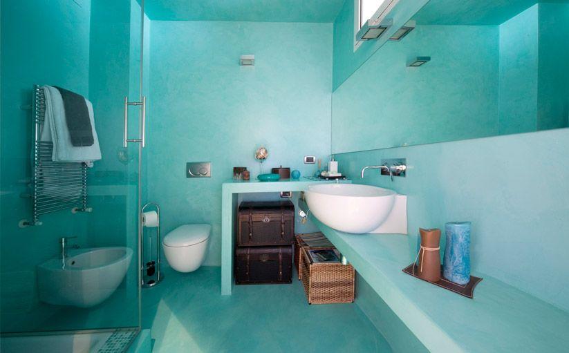 Bagno resina azzurro cerca con google bagno