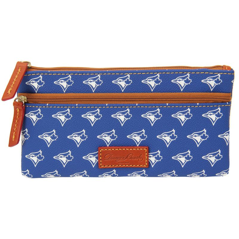 Toronto Blue Jays Dooney & Bourke Women's Signature Zip Flat Pouch