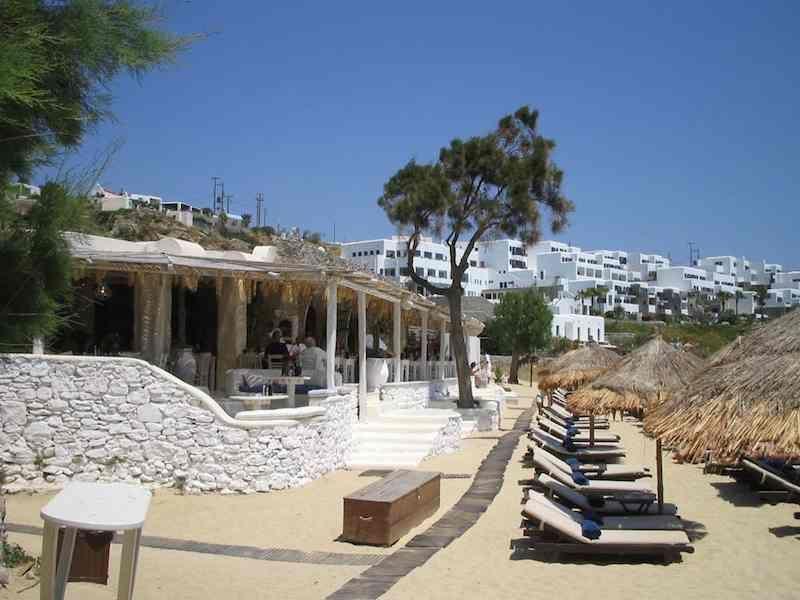 Psarou Beach - Mykonos - YouTube