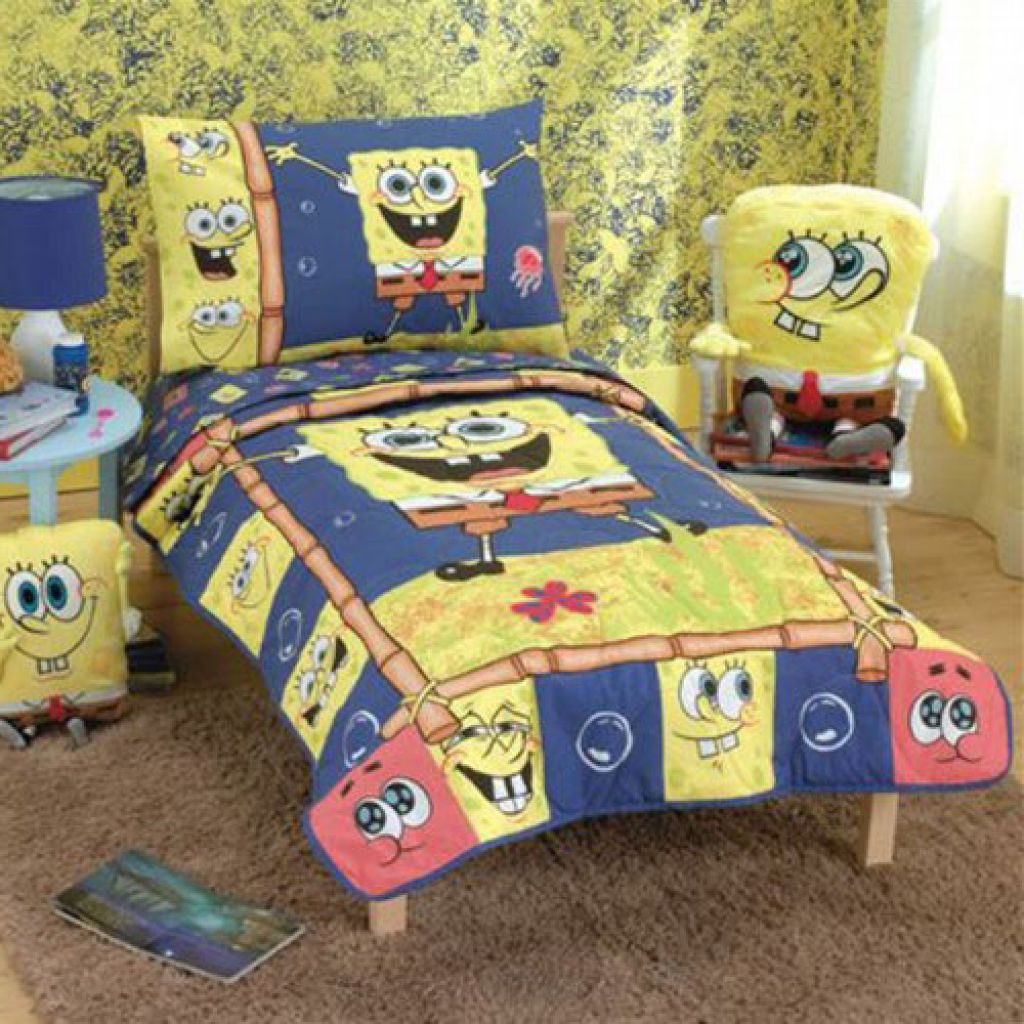 Ordinaire Simple Kids Bedroom Design With Spongebob Squarepants Wallpaper