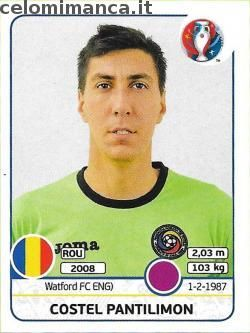 UEFA EURO 2016™ Official Sticker Album: Fronte Figurina n. 50 Costel Pantilimon