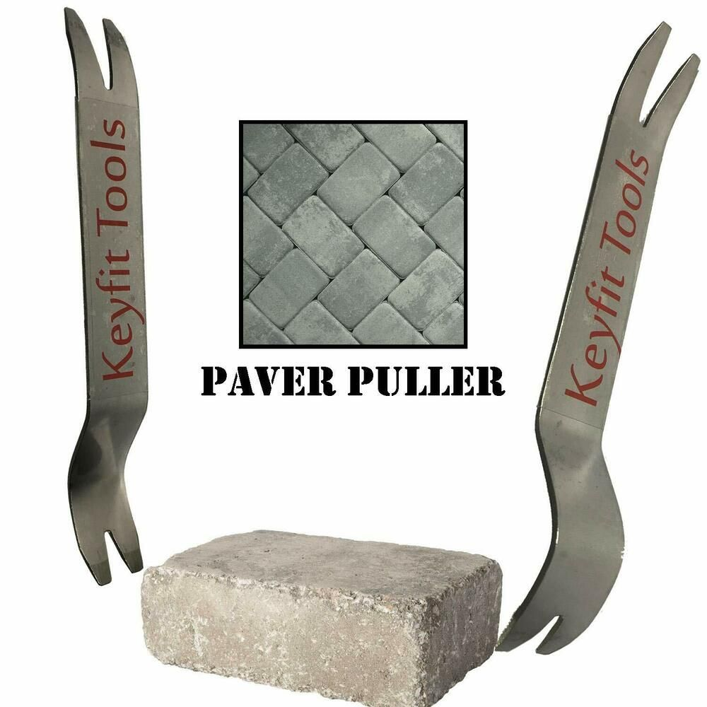 2pc Set Paver Puller Stainless Steel Paver Extraction Removal Raise Sunken Brick Keyfittools Paver Edging Paver Blocks Flag Pole Bracket