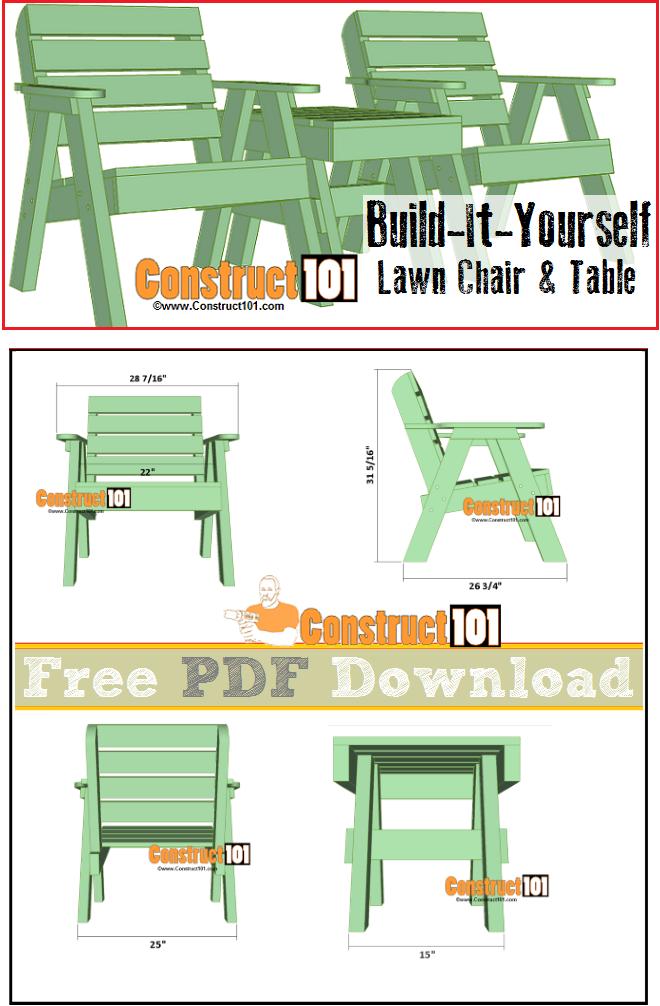Lawn Chair Plans Pdf Download Backyard Gardening