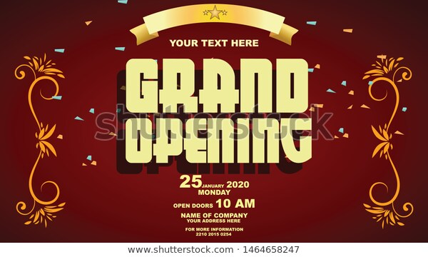 Grand Opening Vector Editable Sign Banner Stock Vector Royalty Free 1464658247 Grand Opening Banner Grands