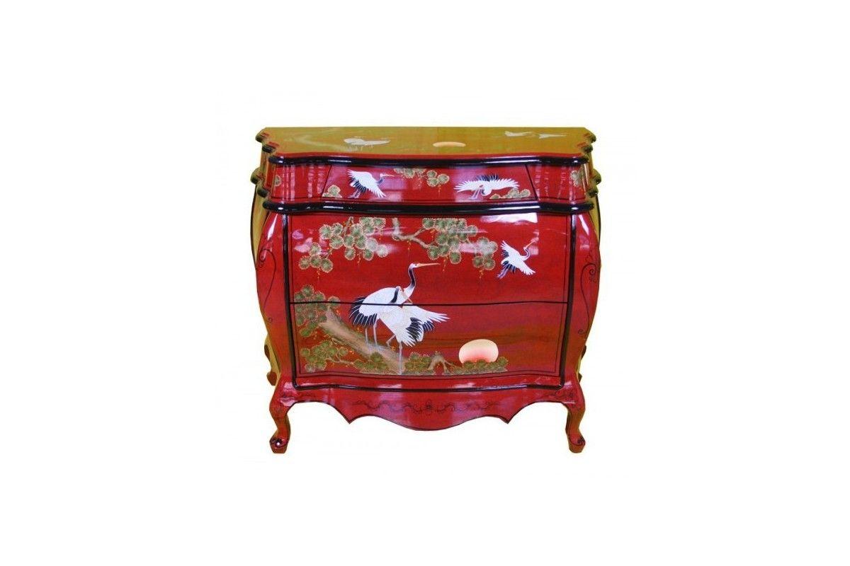 Commode Chinoise Laquee Rouge Meuble Chinois Laque Meuble Chinois Mobilier De Salon Decorations Asiatiques