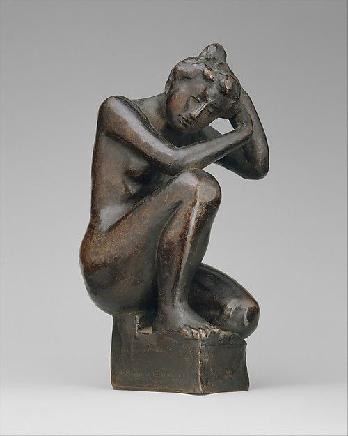 Maillol was trained as a painter, but early in his career he became interested in tapestry weaving and ceramics, as well as the sculpture that eventually became his true métier. This figure was originally intended for the top of one of Maillol's ceramic water fountains