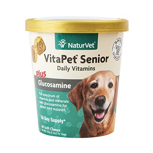 Naturvet Vitapet Senior Daily Vitamins Plus Glucosamine For Dogs 60 Ct Soft Chews Made In Usa Click Image For More Det Daily Vitamins Food Animals Vitamins