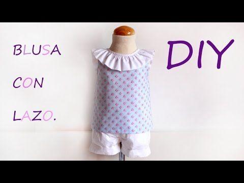 1837df244 Blusa con lazo en escote  DIY - Patronesmujer  Blog de costura ...