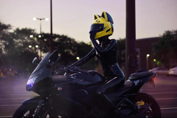 Cat Ear Motorcycle Helmets Anime motorcycle, Celty