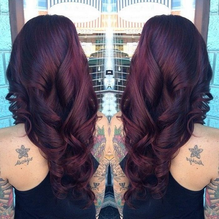 black cherry hair color with culrs my style pinterest