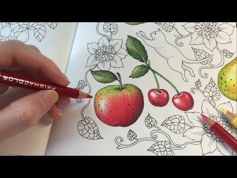 How I Color An Apple Blomstermandala Coloring Book Coloring With Colored Pencils Youtube Coloring Books Colored Pencil Techniques Color Pencil Drawing