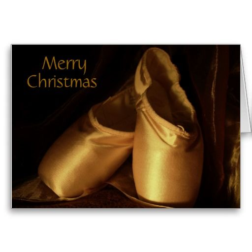 Merry Christmas Ballet Shoes Card
