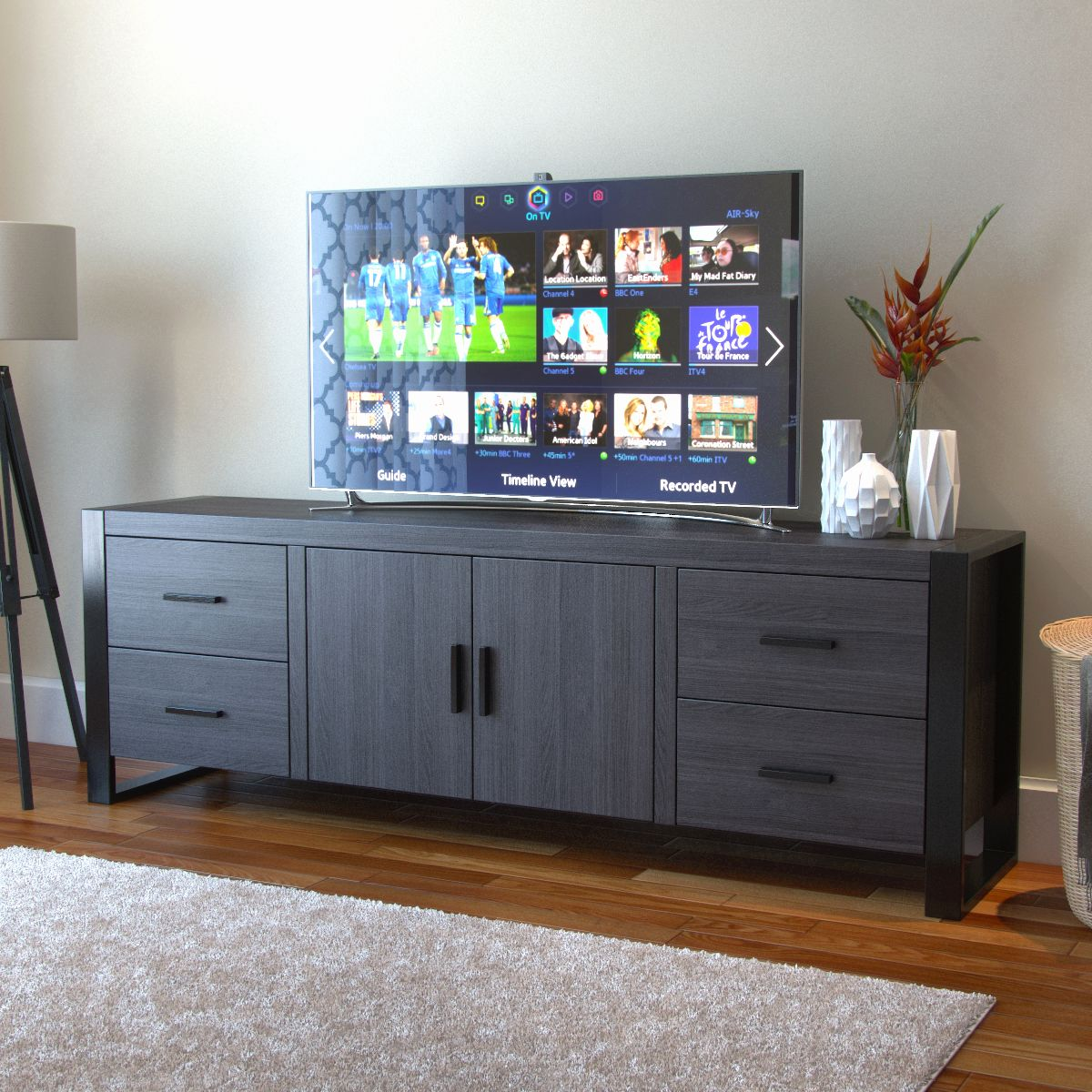 70 Inch Tv Stand Black Inspirational Ryan Rove Milan 70 Inch Tv