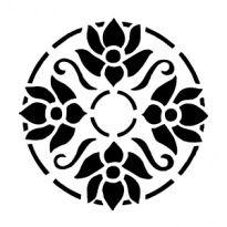 Szablony Z Tworzywa Flora Kwiaty Motywy Roslinne Szabloneria Pl Szablony Malarskie I Naklejki Na Sciane Producent Stencil Desenler Nakis Desenleri