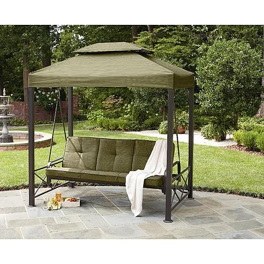 Screened Porch And Garage Oasis: Garden Oasis 3 Person Gazebo Swing