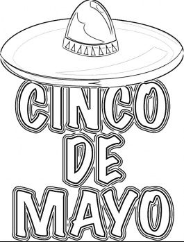 Impertinent image intended for cinco de mayo coloring pages printable