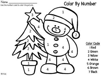 Color By Number Christmas {25 days of Christmas Fun