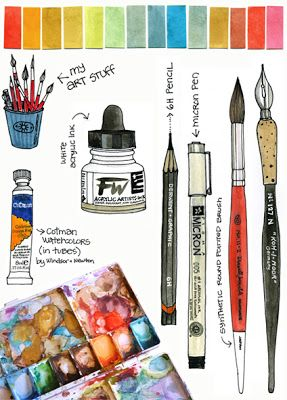 Love Her Watercolors And She Explains What She Uses Here Art
