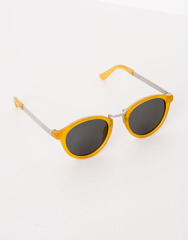 Gafas sol montura amarilla - Gafas de sol - Accesorios - Mujer ...