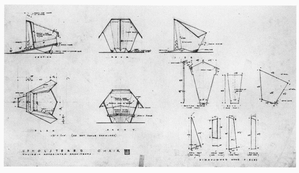 Superieur Wright Chat :: View Topic   1949 Taliesin Origami Chair   Dimensions?  Sketches?