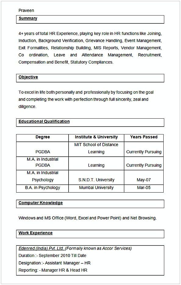 sample assistant manager hr resume hr manager resume sample this