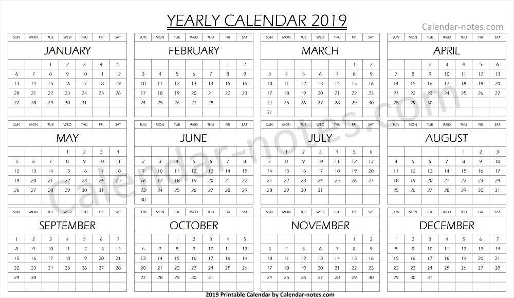 Calendar 2019 Blank Template Blank Calendar 2019 Calendar, Blank