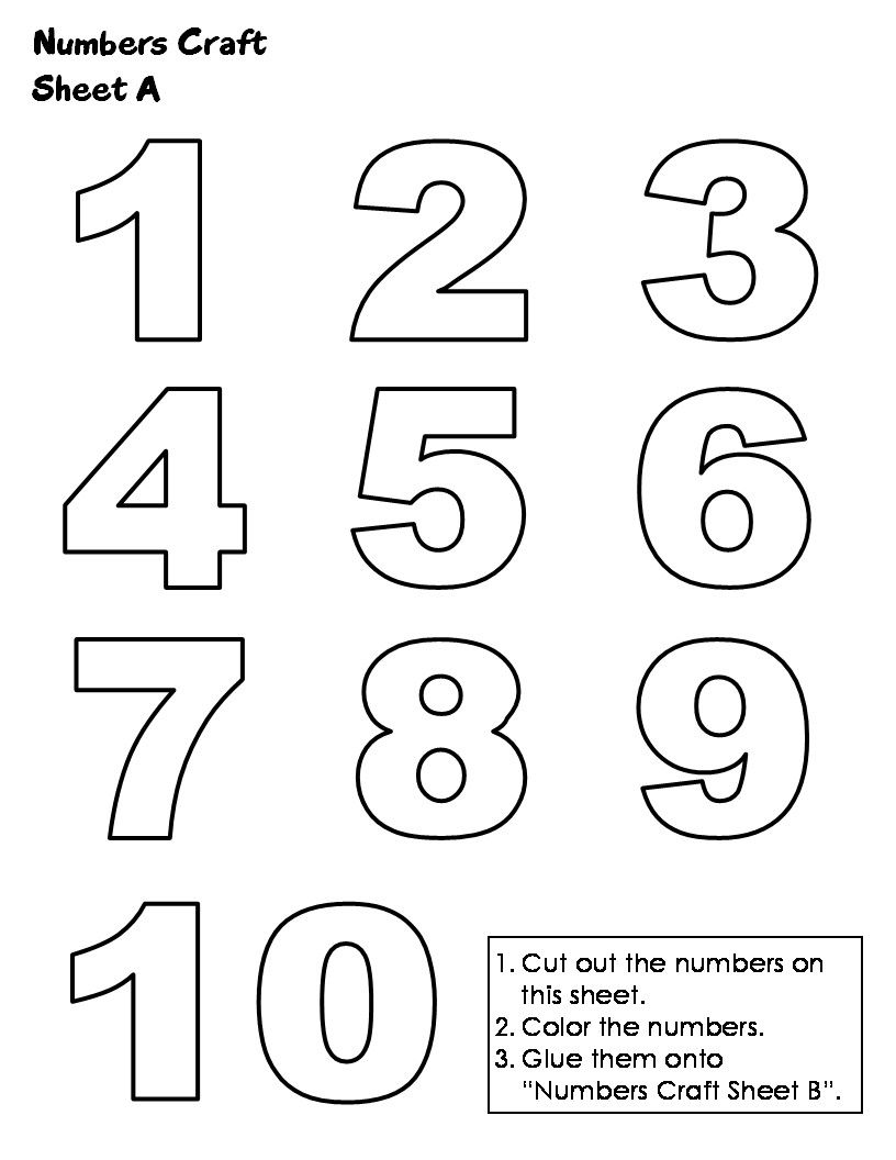 picture about Numbers 1-10 Printable known as 1 10 -
