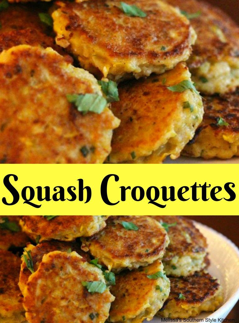 Squash Croquettes Recipes From Our Favorite Bloggers Pinterest