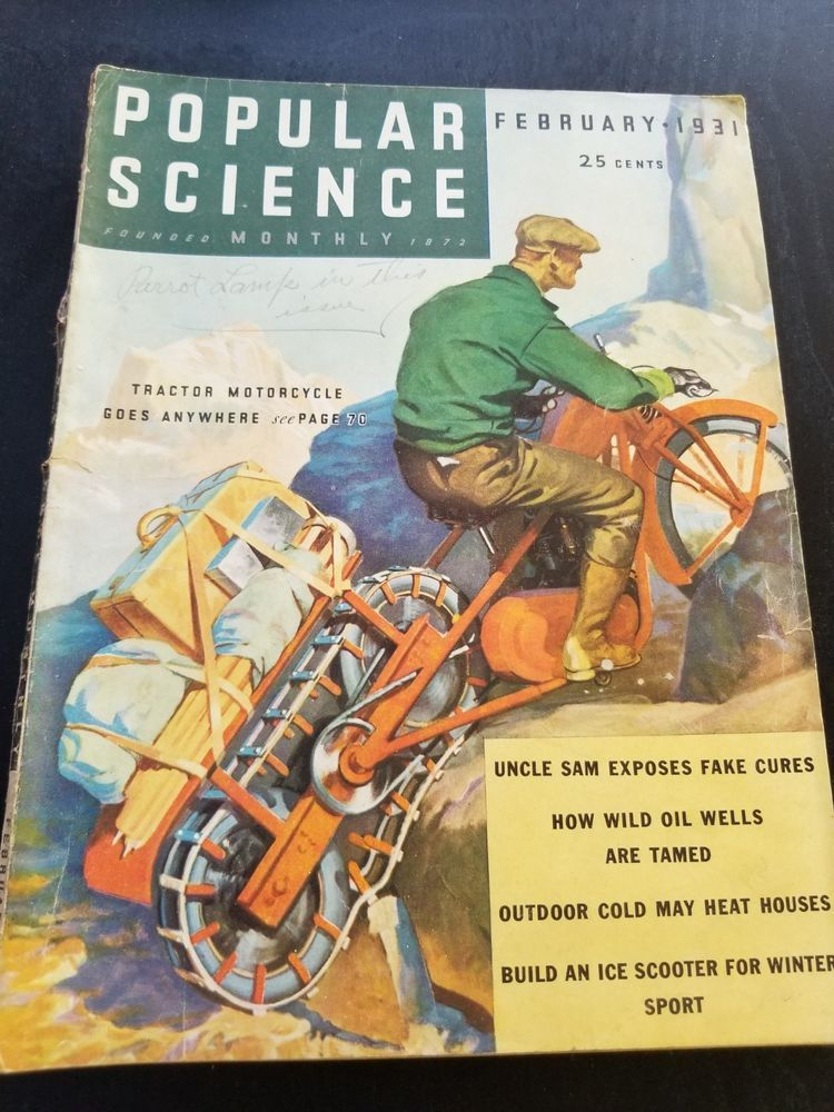 1931 Popular Science Magazine February Publication In 2018