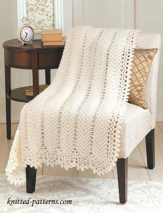 Elegant Crochet Blanket [Free Pattern] en 2018 | ganchillo | Pinterest